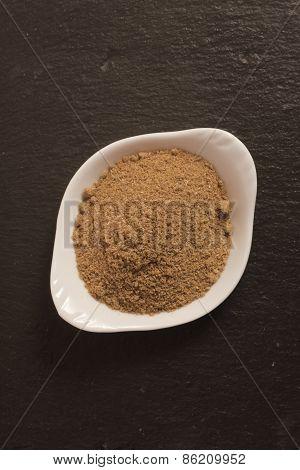 masala ( masale ) powder spice in a small cup, India