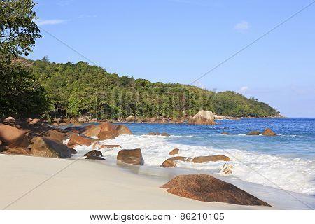 Beautiful beach Anse Lazio.
