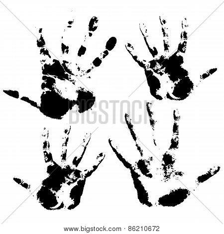 Hand print, skin texture pattern, vector illustration