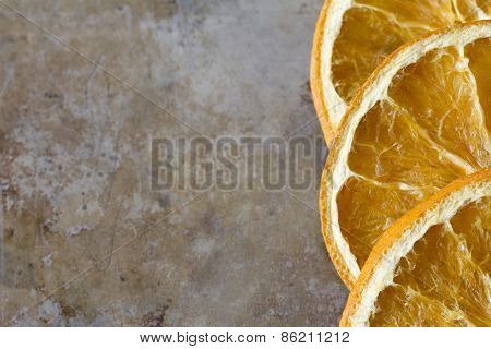 Dried Oranges on a Tray