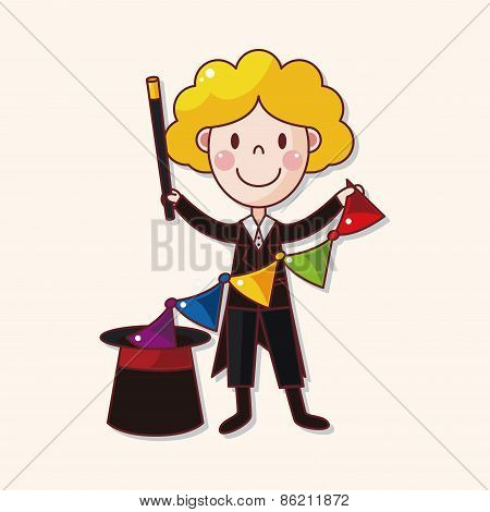 Magician Theme Elements Vector,eps