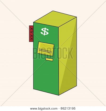 Casino Cash Machine Theme Elements
