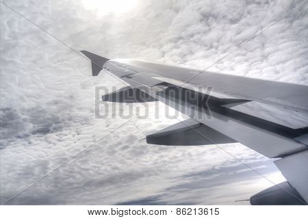 Sun, Sky And Airplane Wing