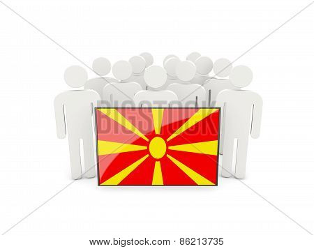 People With Flag Of Macedonia