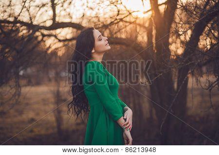 Gentle Portrait Of A Beautiful Girl