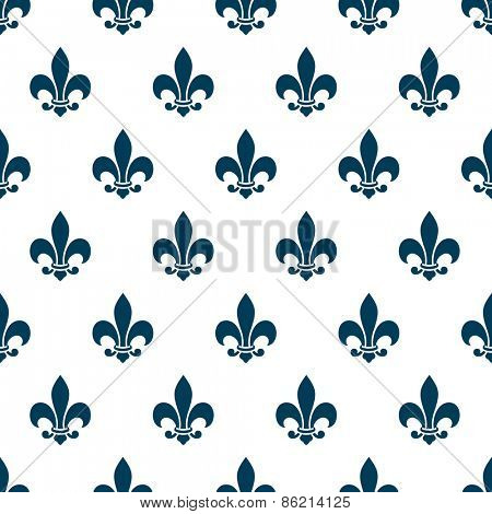 Fleur de lis seamless pattern. Endless background