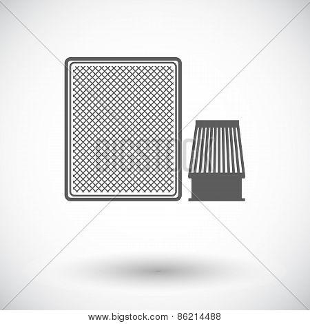 Automotive filter icon.
