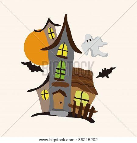 Amusement Park Facilities Theme Elements - Haunted House