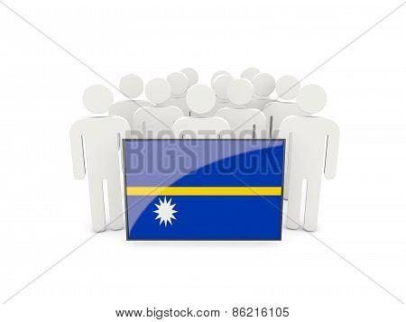 People With Flag Of Nauru