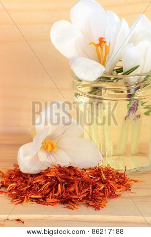 Saffron Spice And Flower Crocus
