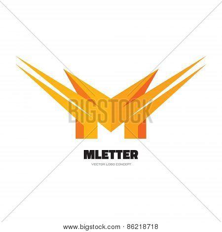 Letter M - vector logo concept illustration. Abstract vector logo. Vector logo template.