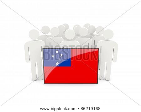 People With Flag Of Samoa