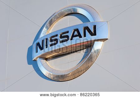 Nissan Dealership Sign. Nissan Is A Japanese Multinational Automaker