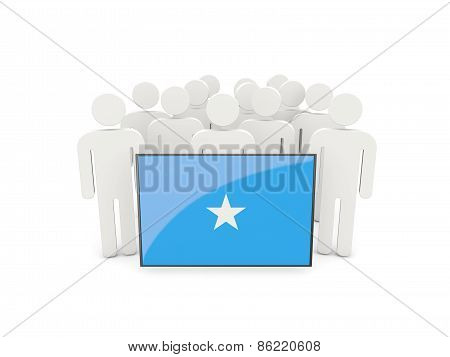 People With Flag Of Somalia