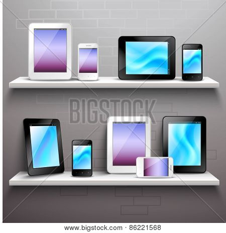 Devices On Shelves