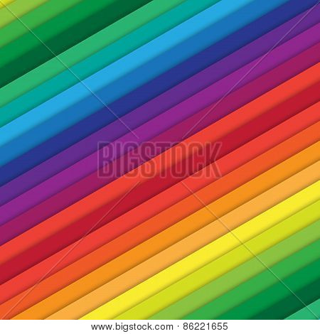 Multicolored Diagonal Bars