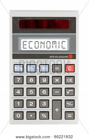 Old Calculator - Economics