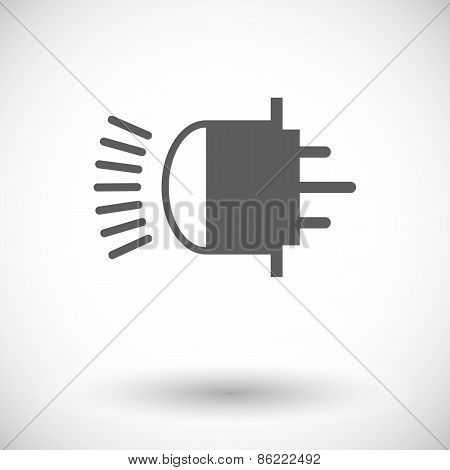 Xenon car lamp flat icon