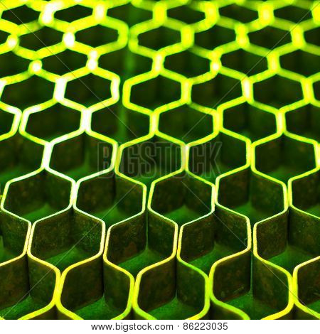 Abstract Metal Honeycomb Structure