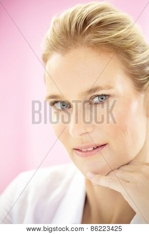 Formal Woman On Pink