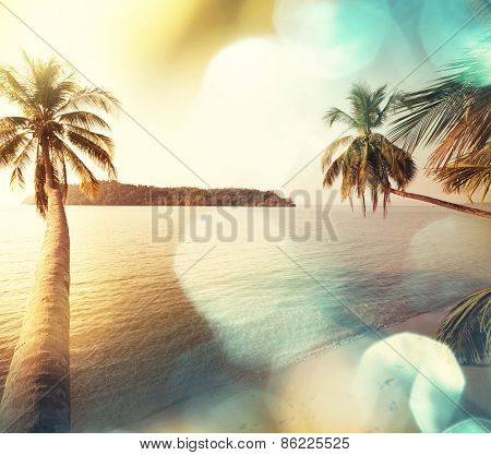 Serenity tropical beach