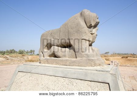 Babylon lion statue