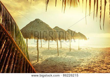 Vintage style beach scene