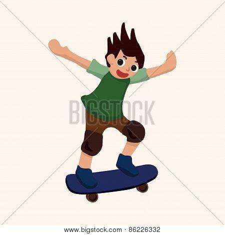 Extreme Sports Theme Elements - Skateboard