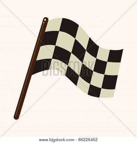 Racing Theme Elements-Checkered Flag