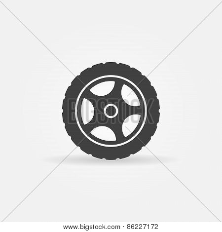 Tire vector icon or logo