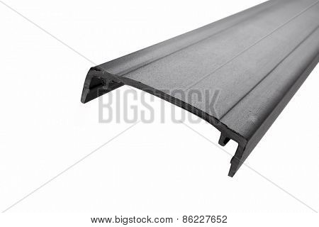 Extruded plastic furniture profile isolated