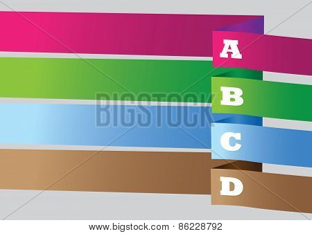 Colored Banner Vector Background Layout Design