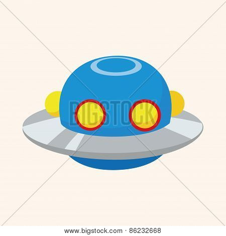 Space Ufo Theme Elements
