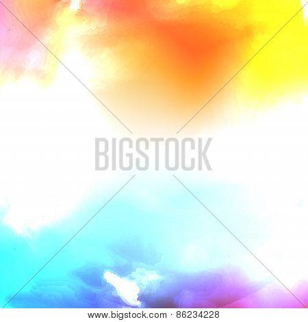 Vector water color cloud.