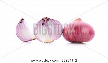 Shallot Or Onion Isolated On White Background