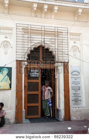 KOLKATA, INDIA - FEBRUARY 10, 2014: Nirmal Hriday, Home for the Sick and Dying Destitutes, established by the Mother Teresa and run by the Missionaries of Charity in Kolkata, India