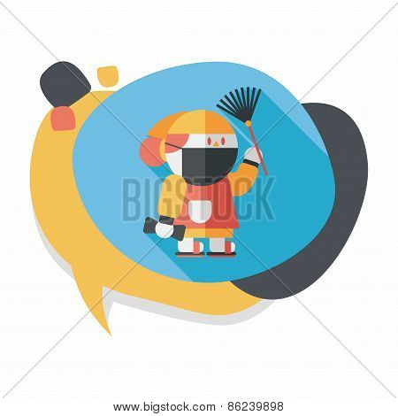 Chinese New Year Flat Icon With Long Shadow,eps10, When The Chinese New Year ,we Will Be Cleaning Ou