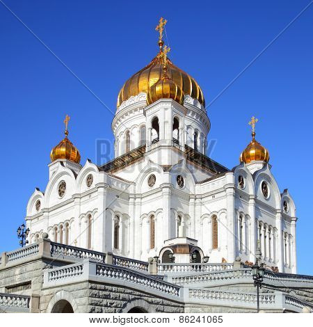 The Cathedral of Christ the Saviour in Moscow, Russia