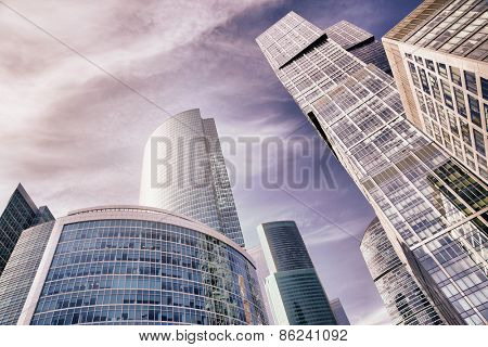 Skyscrapers of Moscow city, Russia