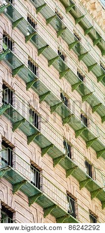 Green Iron Balconies