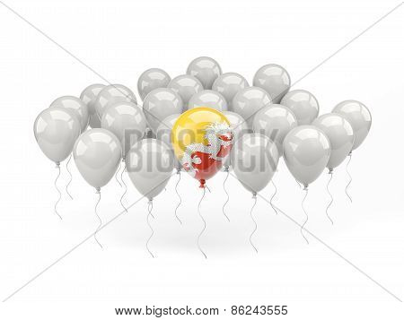 Air Balloons With Flag Of Bhutan