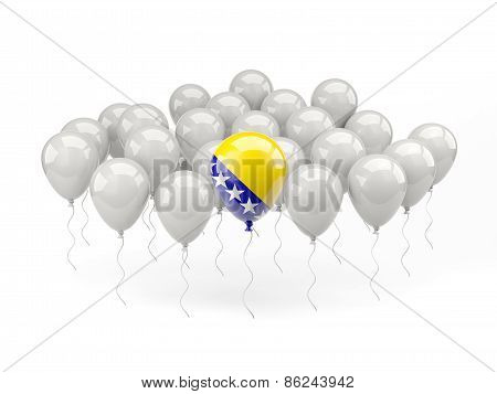 Air Balloons With Flag Of Bosnia And Herzegovina