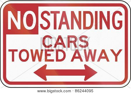 No Standing - Cars Towed Away