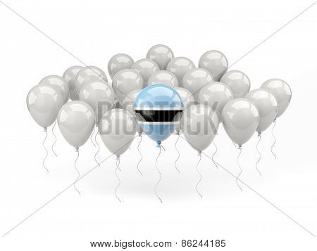 Air Balloons With Flag Of Botswana