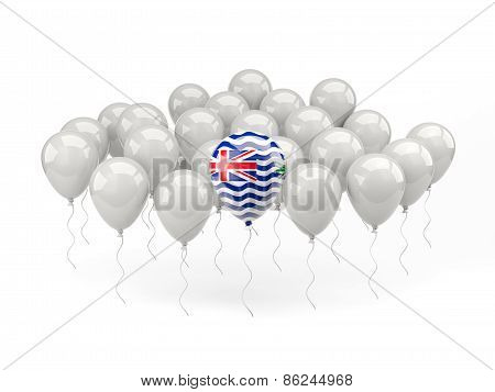 Air Balloons With Flag Of British Indian Ocean Territory