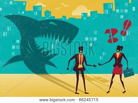 Businessman Is Really A Shark In Disguise.