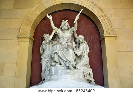 Statue Of A Saint In Sanssouci
