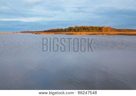 Island located near to the city of Gdansk, Poland
