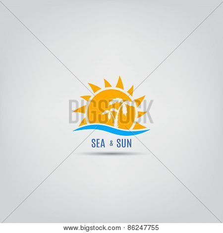 Vector Template Of A Summer Logo