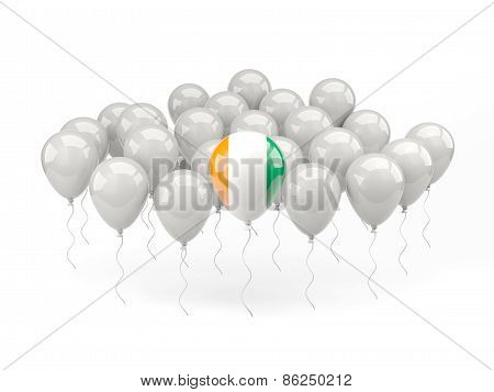 Air Balloons With Flag Of Cote D Ivoire